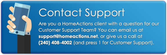 Contact The HomeActions Customer Support Team