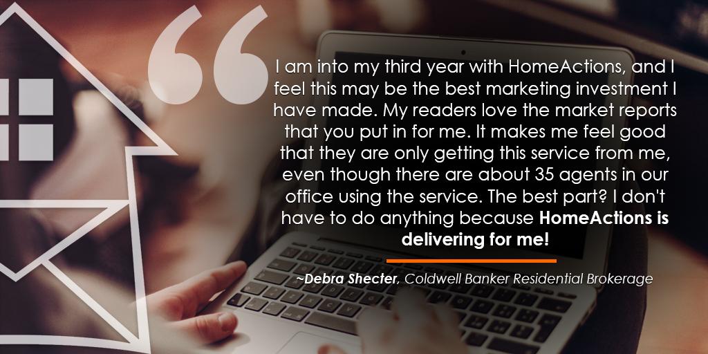 Coldwell Banker Debra Shecter HA Testimonial