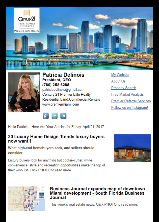 Real Estate Marketing Newsletter Example From An Agent At Century 21