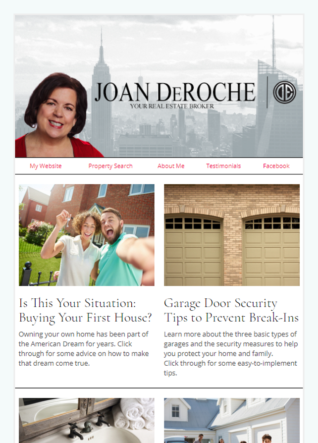 Real Estate Marketing Newsletter Example From An Agent At Douglas Elliman Real Estate