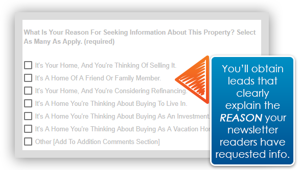 HomeActions AVM lead tool with purpose questions