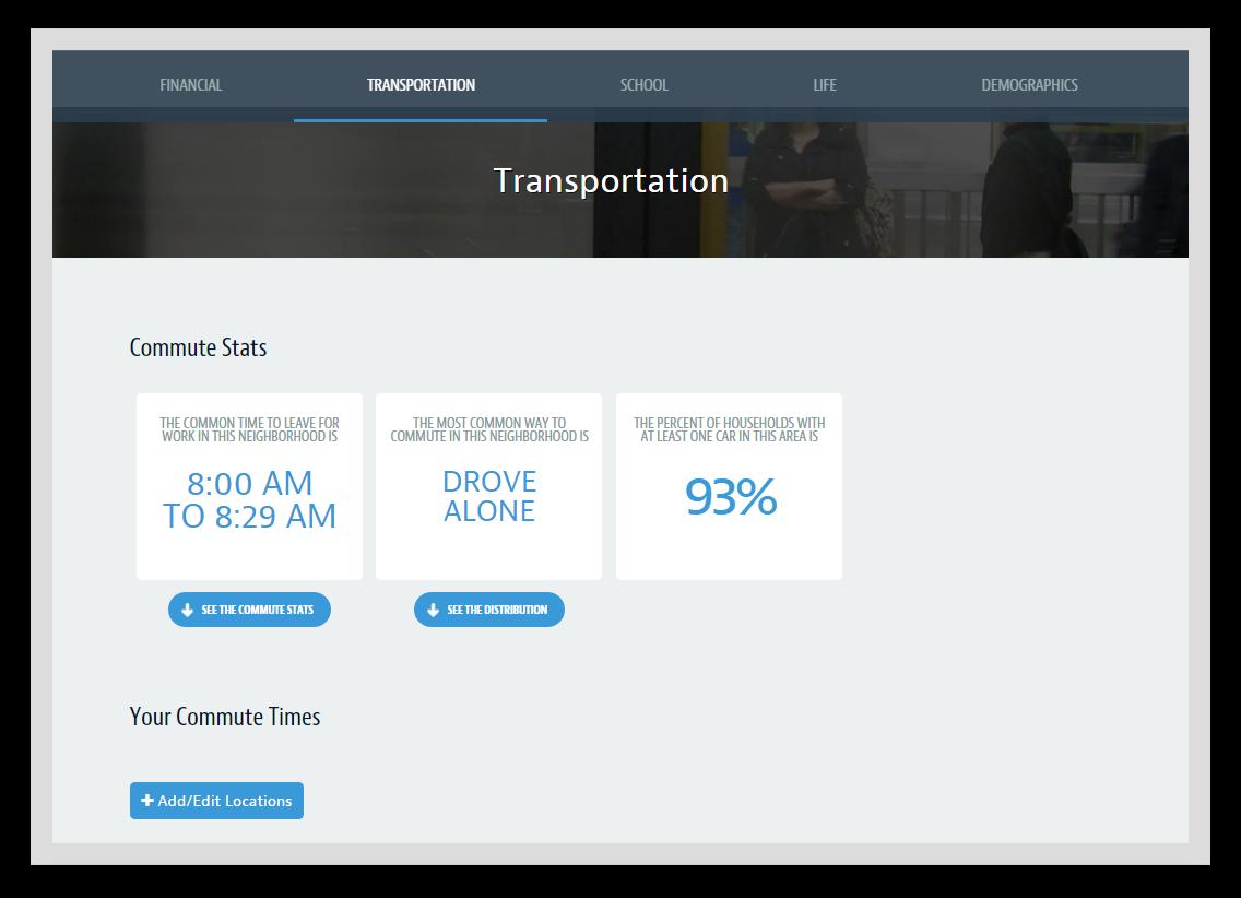 AddressReport Transportation Info Image