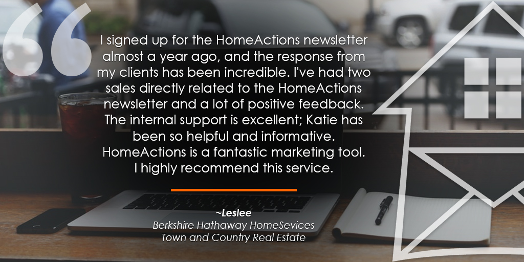 HomeActions Berkshire Hathaway HomeSevices Testimonial from Leslee