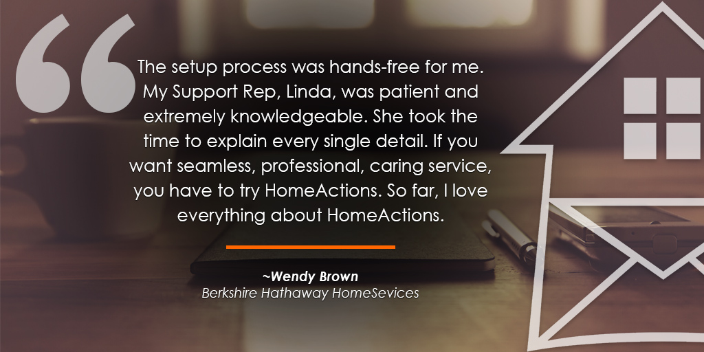 HomeActions Berkshire Hathaway HomeSevices Testimonial from Wendy Brown