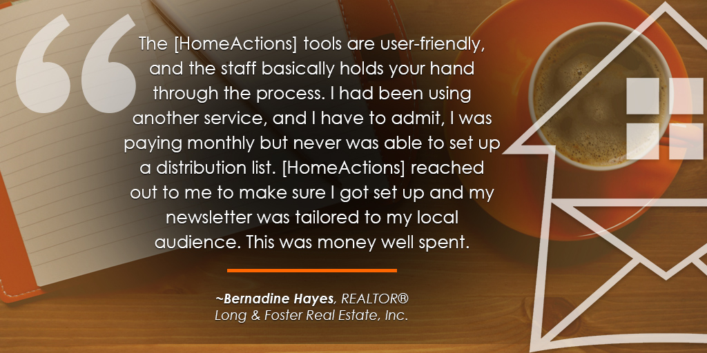 HomeActions Long & Foster Testimonial from Bernadine Hayes