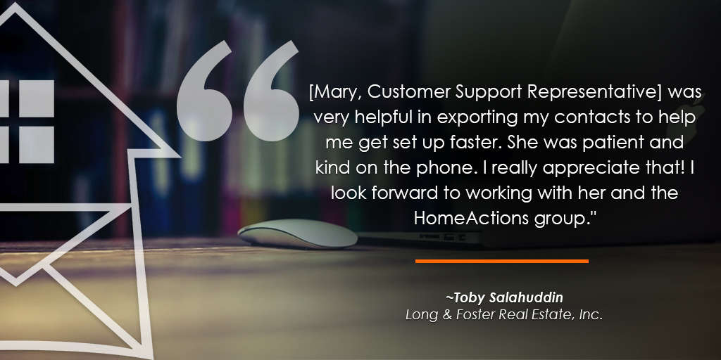 HomeActions Long & Foster Testimonial from Toby Salahuddin