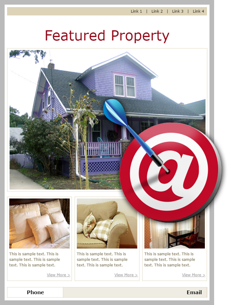 OnTarget Featured Property Real Estate Email Templates
