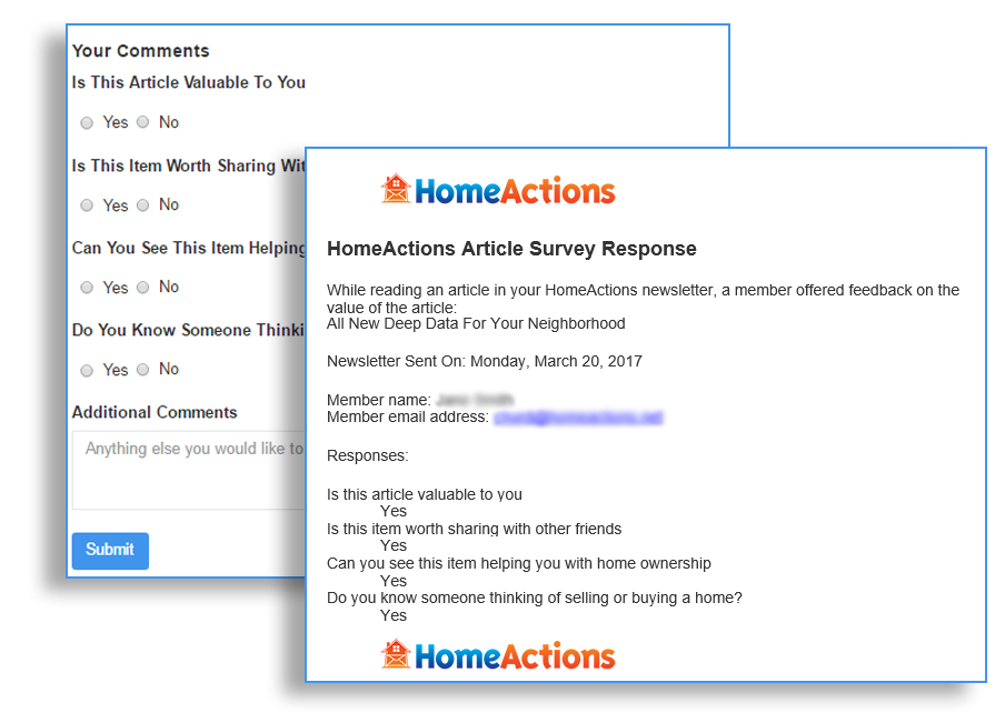 Track Your Real Estate Email Newsletter Customizable Survey Results