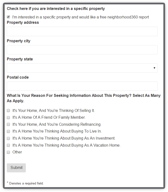 The CurbCall Integration With HomeActions Included Neighborhood360 Giving Readers Detailed Property Information