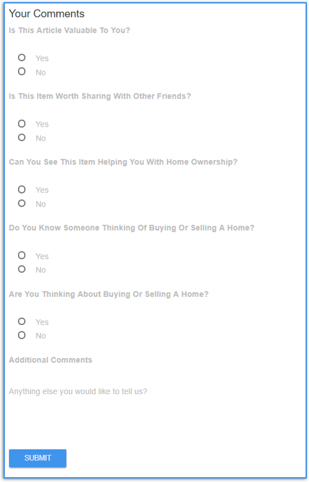 HomeActions Customizable Article Survey Tools For Your Email Marketing Newsletter