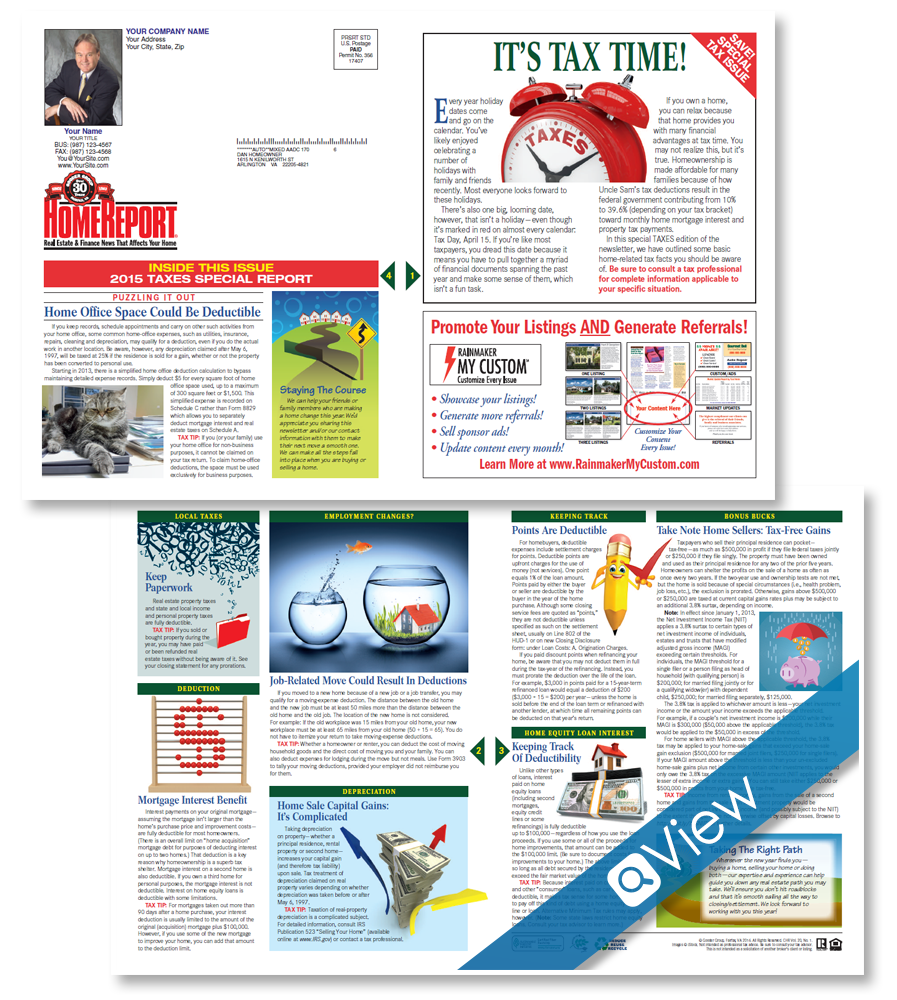 Home Report Newsletter For Print Real Estate Marketing