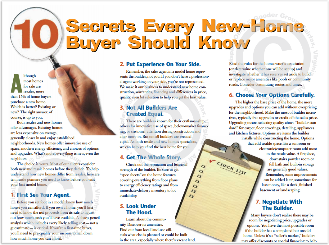 10 Secrets Every New-Home Buyer Should Know Print Real Estate Brochure HomeActions Brochure Preview