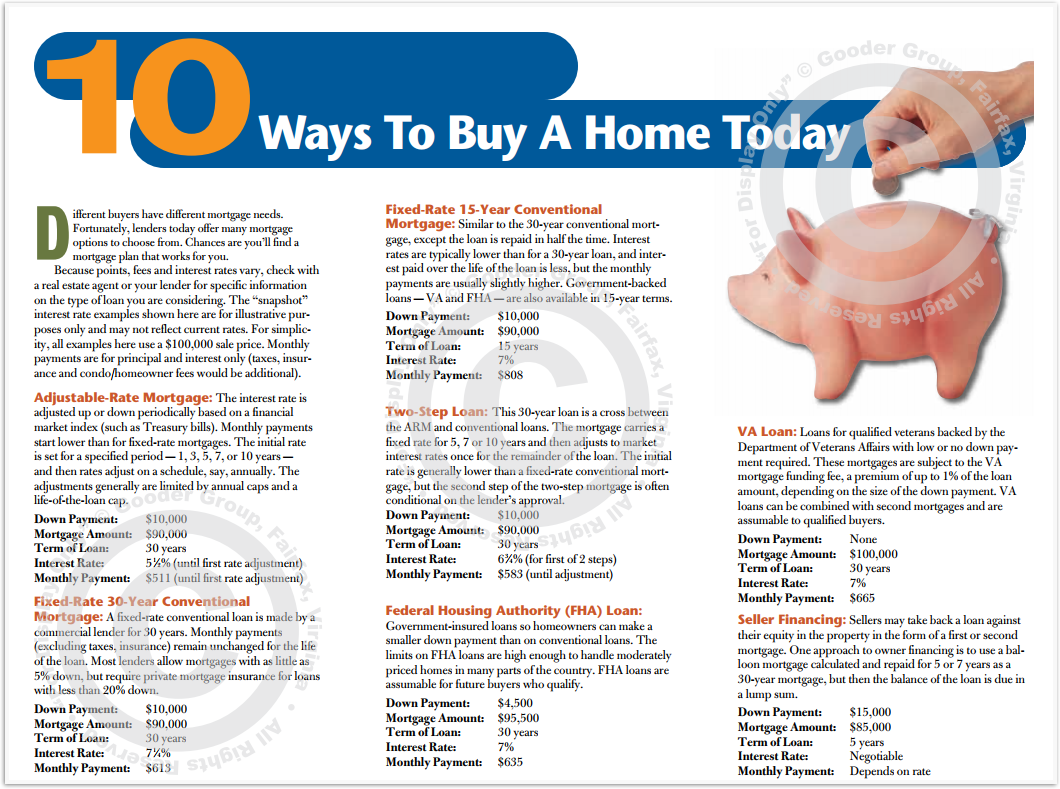 10 Ways To Buy A Home Today Print Real Estate Brochure HomeActions Brochure Preview