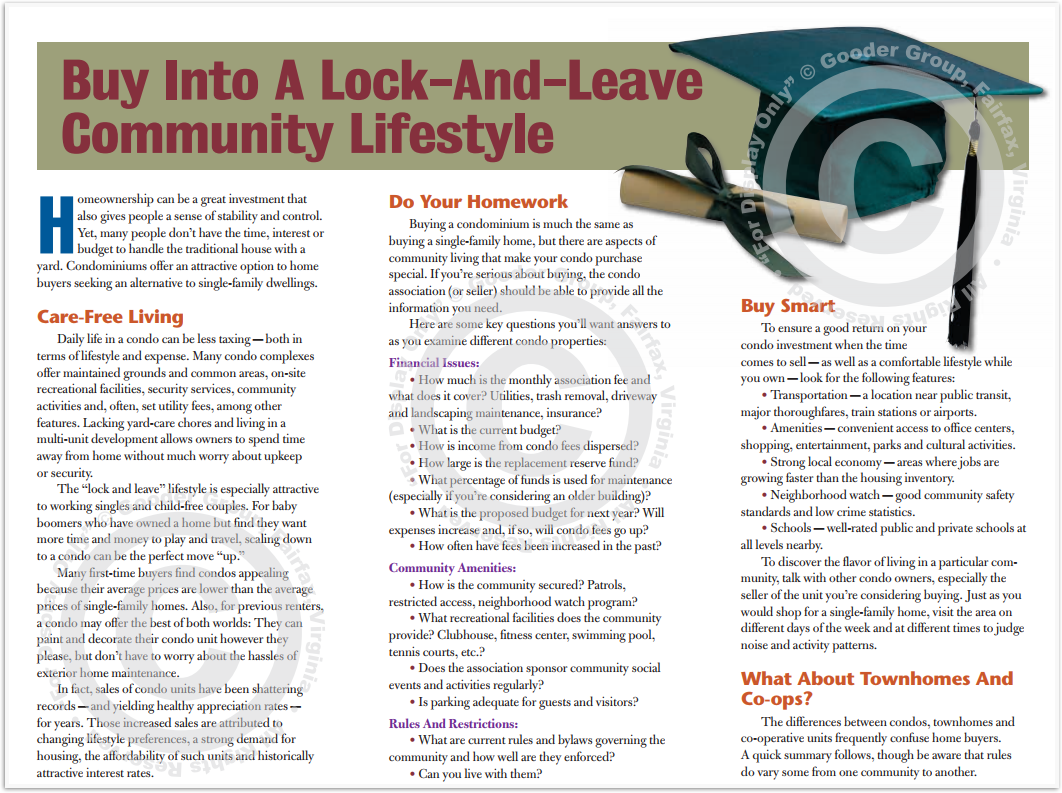 Buy Into A Lock-And-Leave Community Lifestyle Print Real Estate Brochure HomeActions Brochure Preview