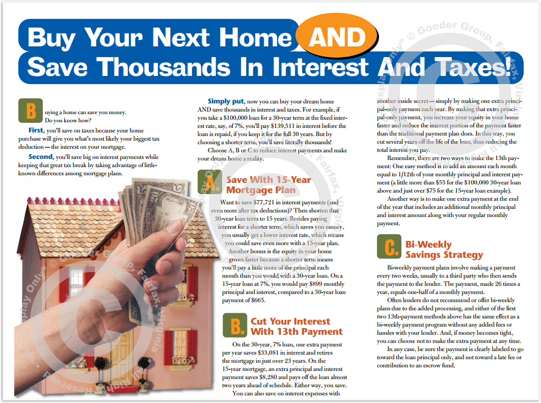 Buy Your Next Home Print Real Estate Brochure HomeActions Brochure Preview