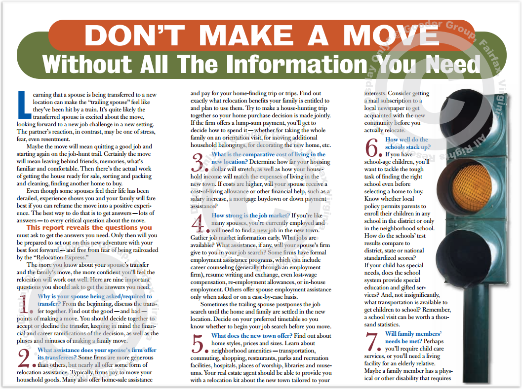 Don't Make A Move Without All The Information You Need Print Real Estate Brochure HomeActions Brochure Preview