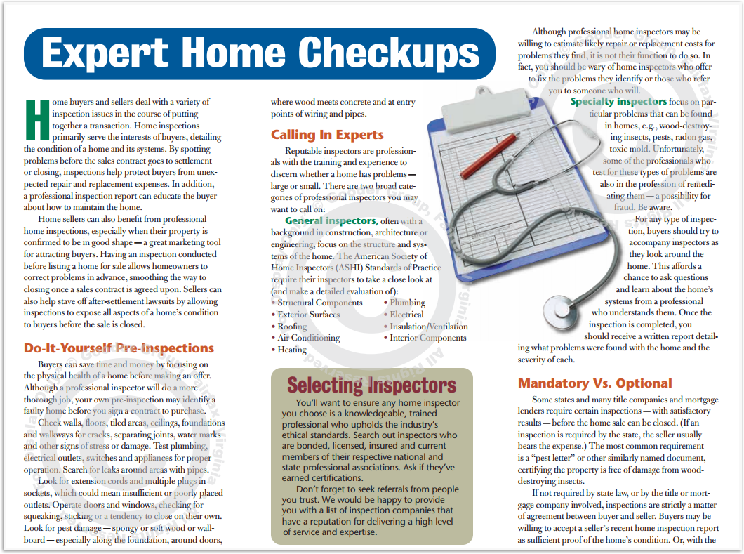 Expert Home Checkups Print Real Estate Brochure HomeActions Brochure Preview