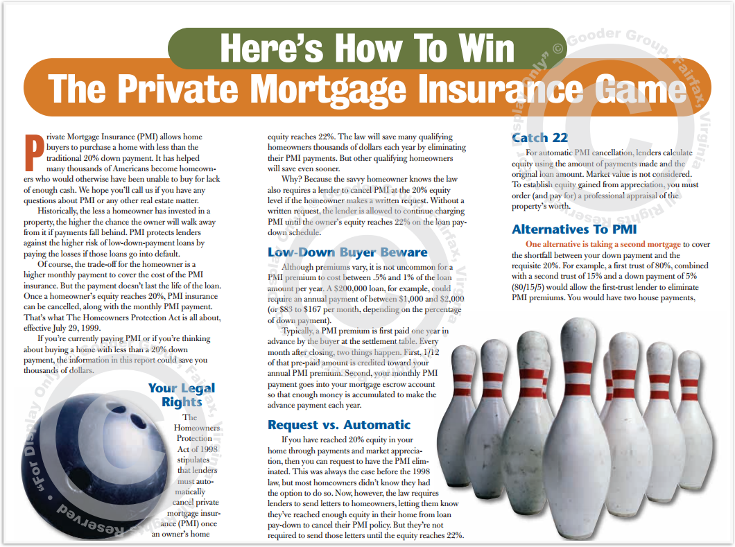 Here's How To Win The Private Mortgage Insurance Game Print Real Estate Brochure HomeActions Brochure Preview