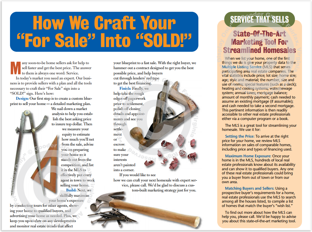 "How We Craft Your ""For Sale"" Into ""Sold!"" Print Real Estate Brochure HomeActions Brochure Preview"