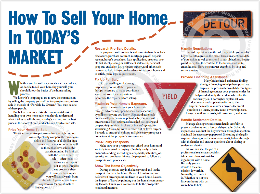 How To Sell Your Home In Today's Market Print Real Estate Brochure HomeActions Brochure Preview