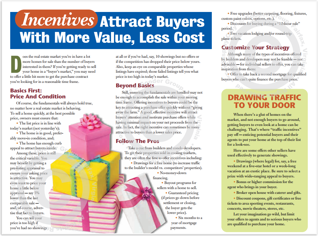 Incentives Attract Buyers With More Value, Less Cost Print Real Estate Brochure HomeActions Brochure Preview