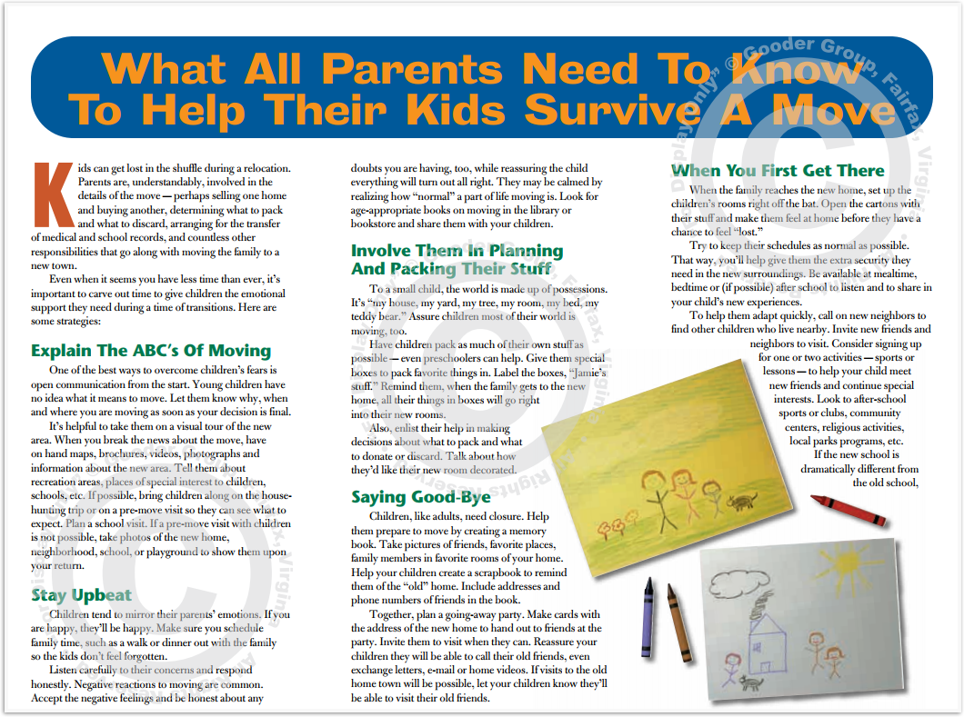 What All Parents Need To Know To Help Their Kids Survive A Move Print Real Estate Brochure HomeActions Brochure Preview