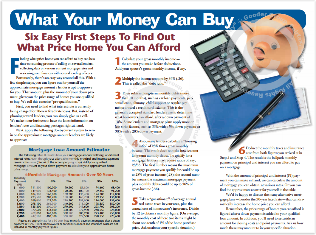 What Your Money Can Buy Print Real Estate Brochure HomeActions Brochure Preview