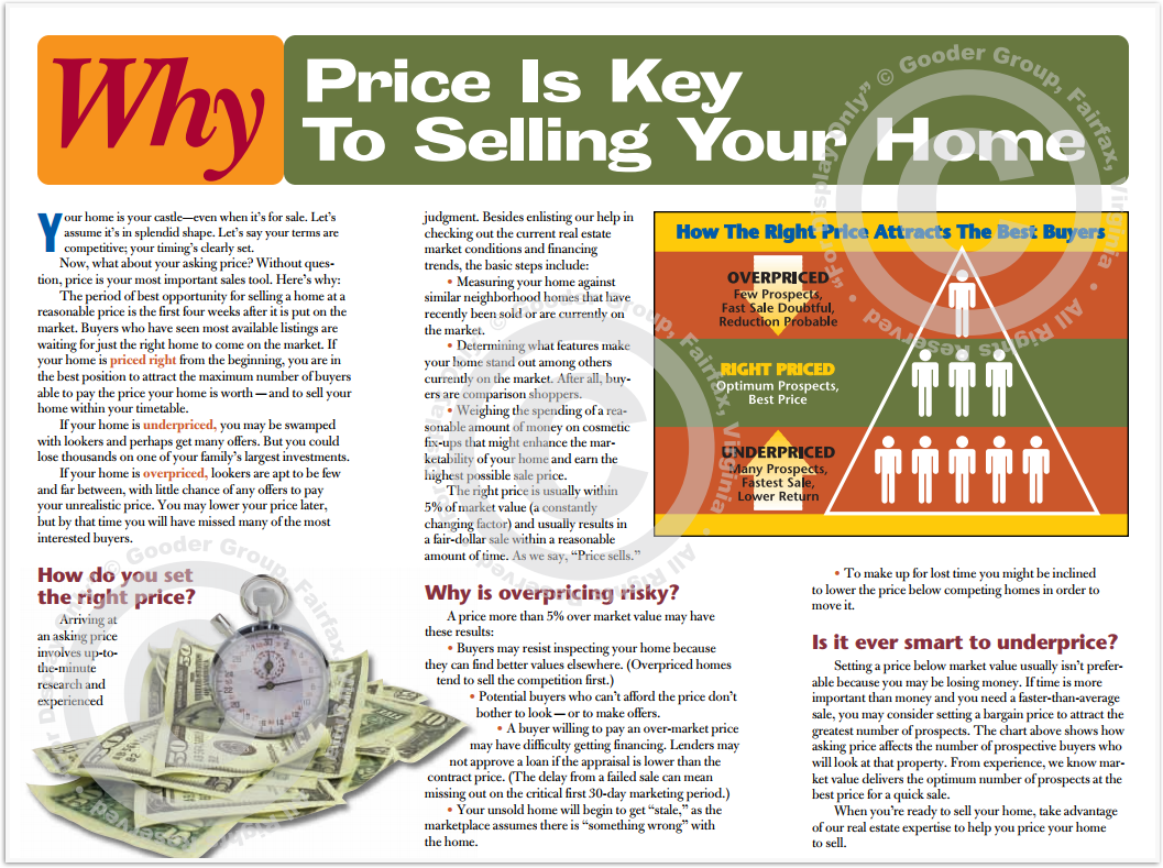 Why Price Is Key To Selling Your Home Print Real Estate Brochure HomeActions Brochure Preview