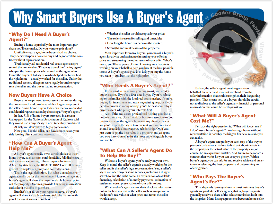 Why Smart Buyers Use A Buyer's Agent Real Estate Brochure HomeActions Brochure Preview