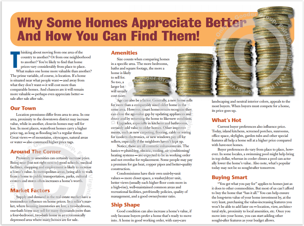Why Some Homes Appreciate Better Print Real Estate Brochure HomeActions Brochure Preview