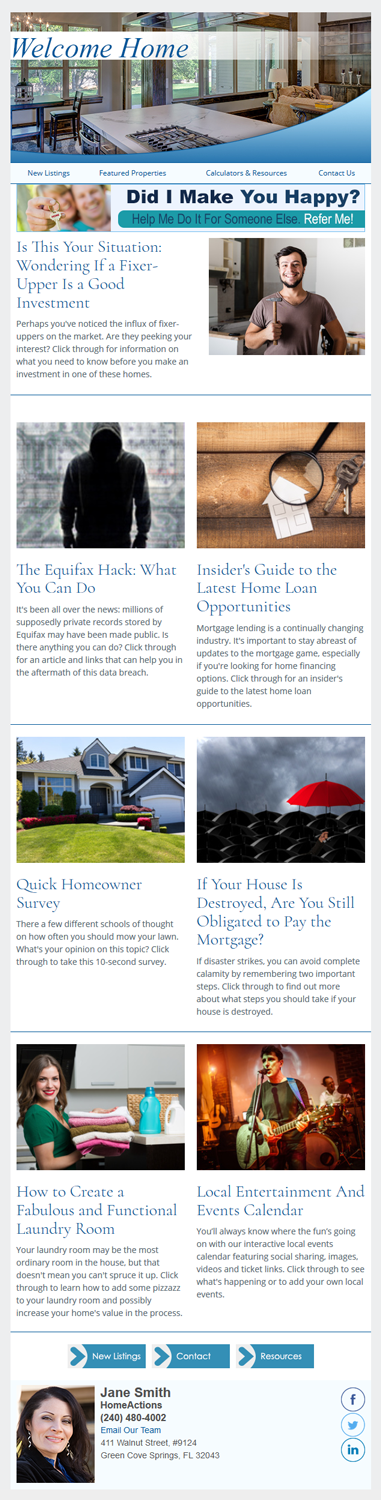 Sample Real Estate Marketing Email Newsletter