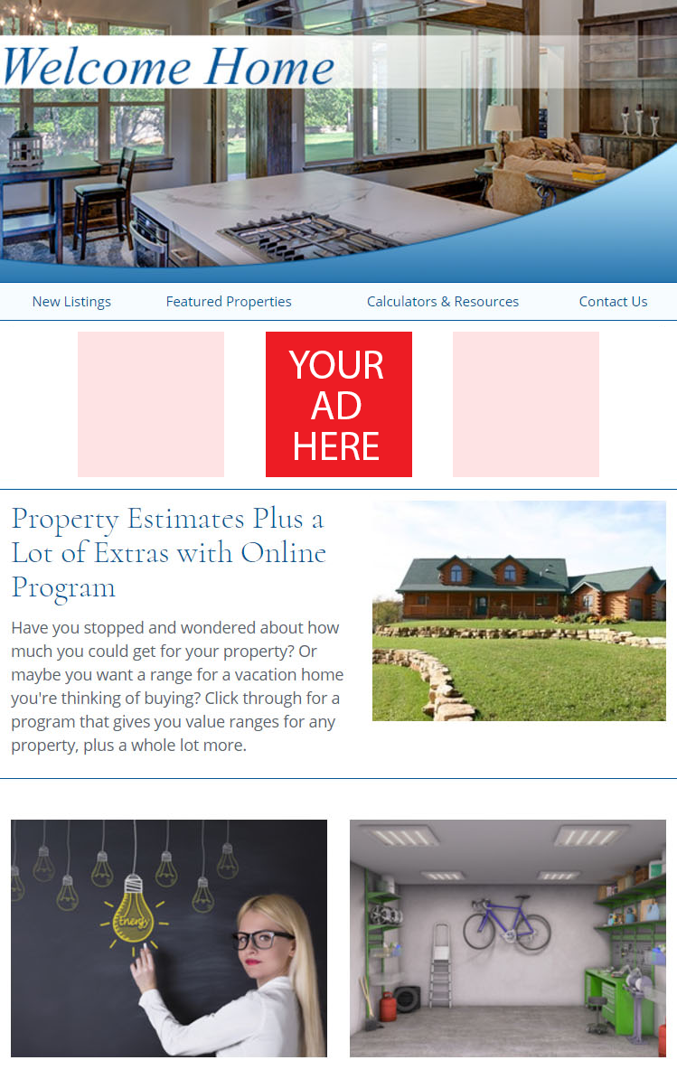 Real Estate Advertising Button Ad Example