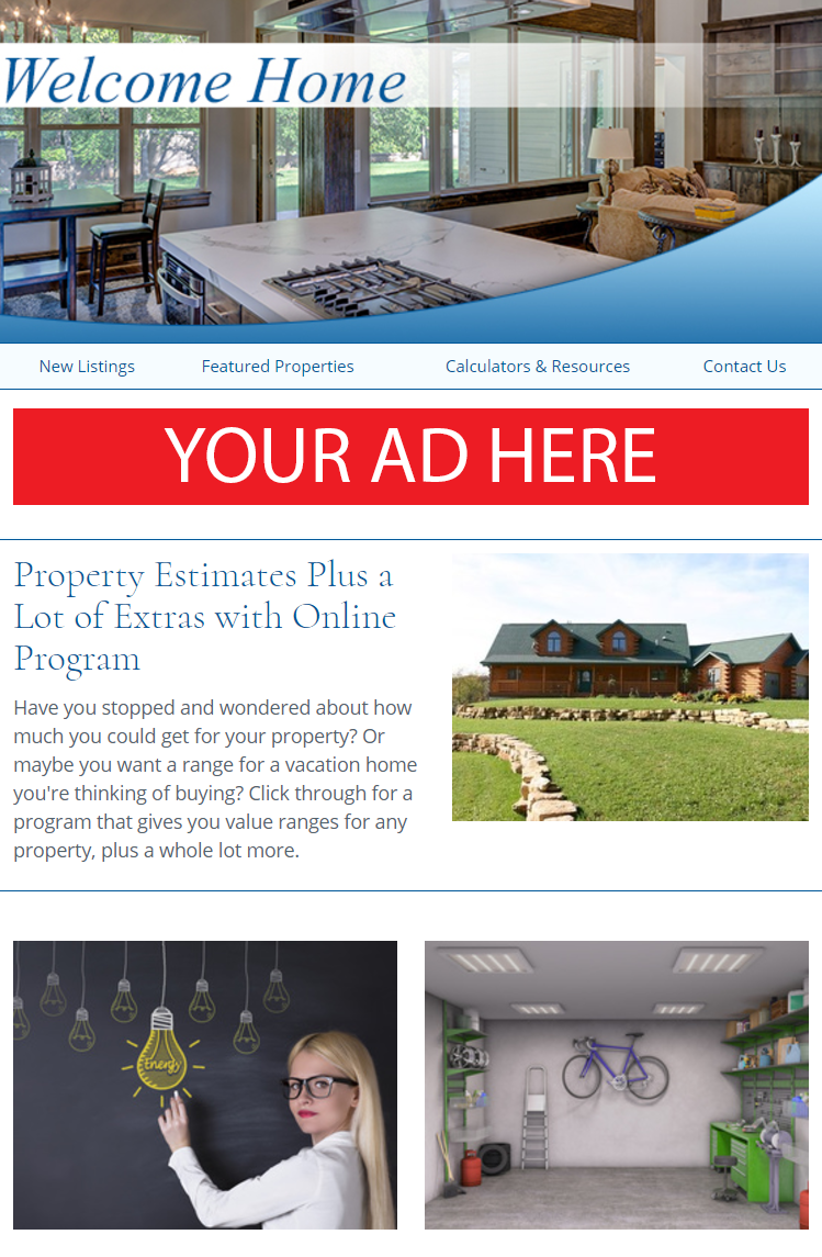 Real Estate Advertising Partner Top Leaderboard Ad Example