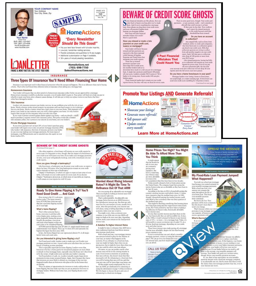 LoanLetter™ For Print Real Estate Marketing