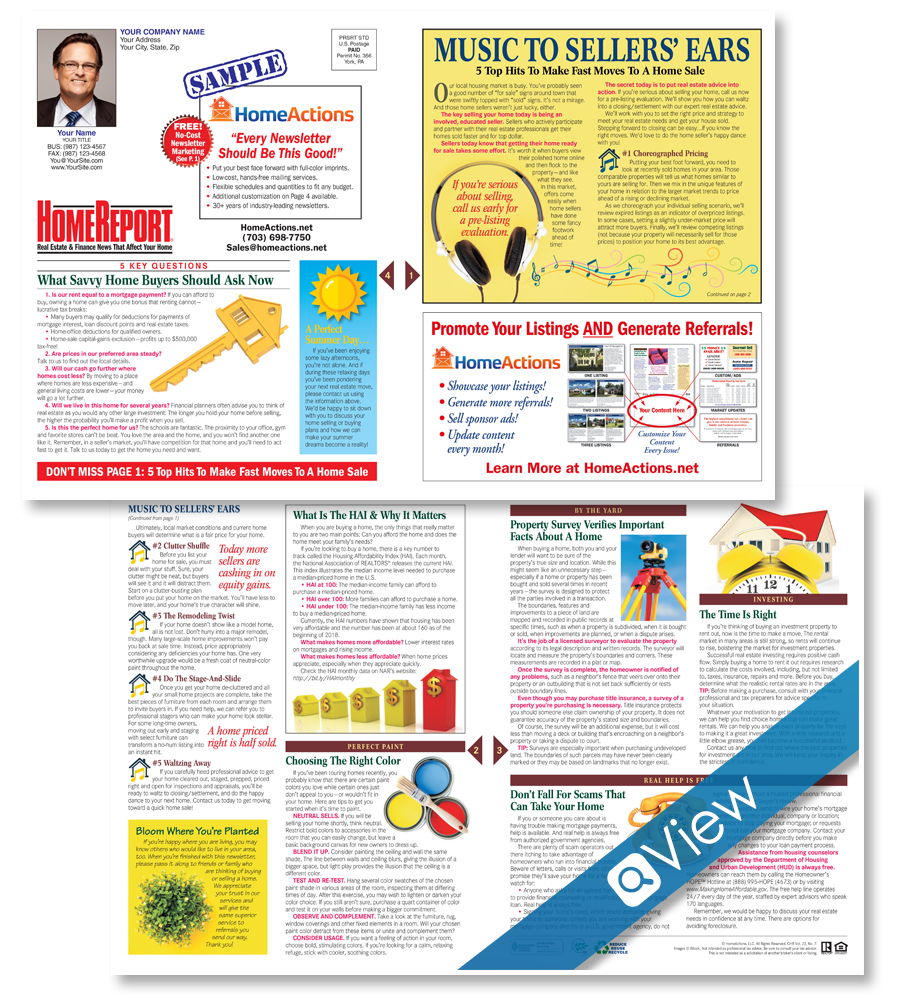 Home Report™ Newsletter For Print Real Estate Marketing