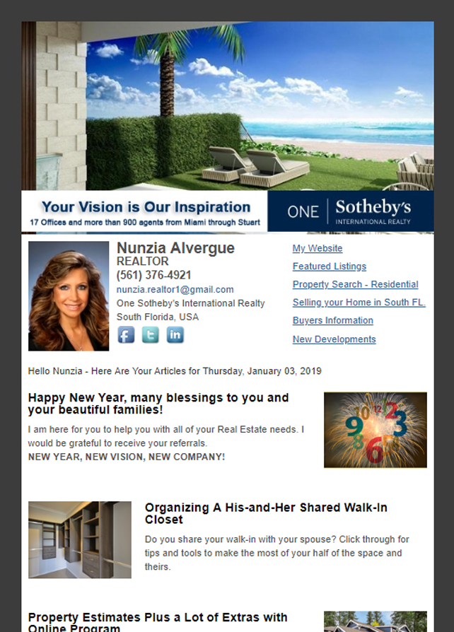 Real Estate Marketing Newsletter Example From An Agent At Sotheby's