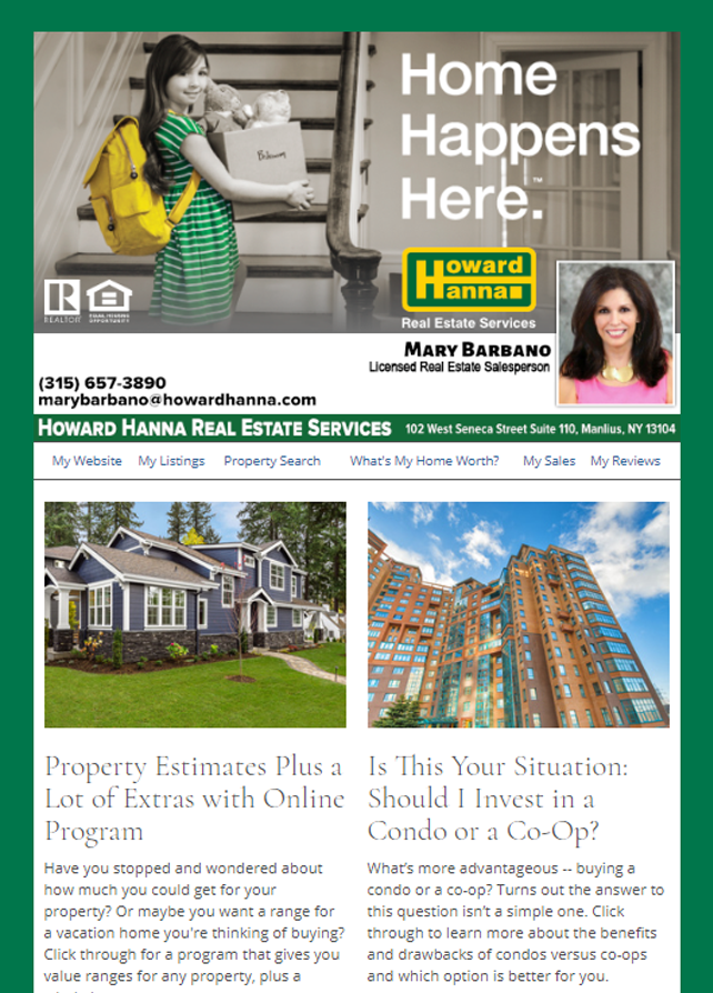 Real Estate Marketing Newsletter Example From An Agent At Howard Hanna Real Estate