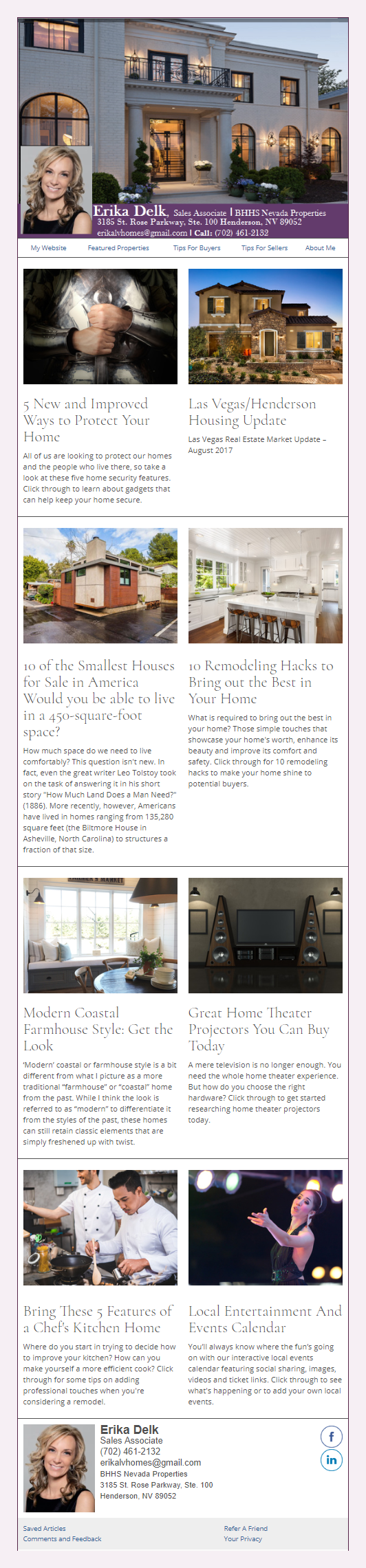 BHHS Berkshire Hathaway Home Services - HomeActions Sample Email Newsletter