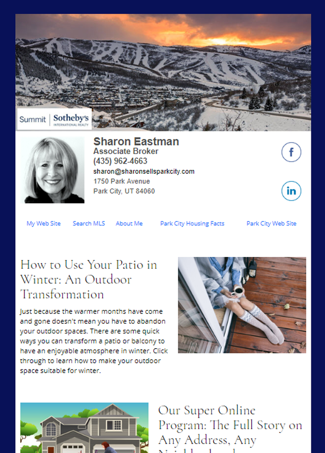 Sotheby's HomeActions Email Newsletter Sample