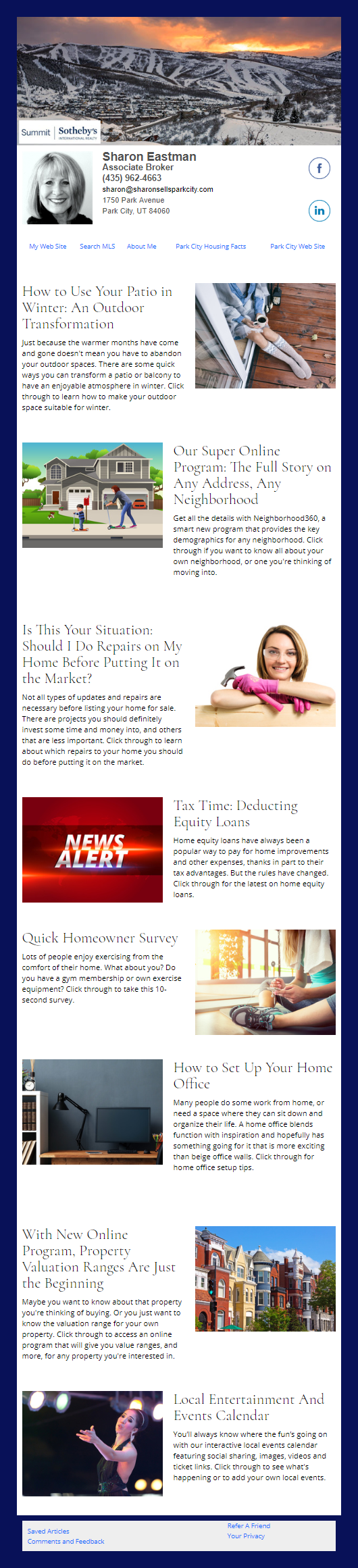 Sotheby's - HomeActions Sample Email Newsletter