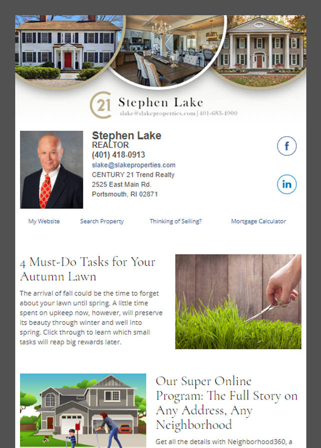 Century 21 HomeActions Email Newsletter Sample