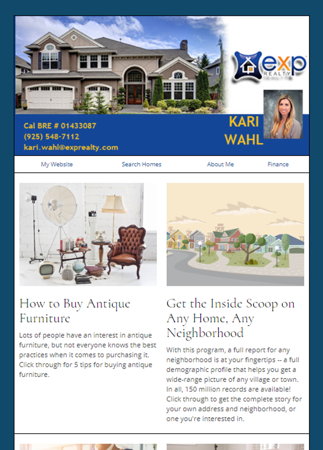 Real Estate Marketing Newsletter Example From An Agent At exp Realty Real Estate
