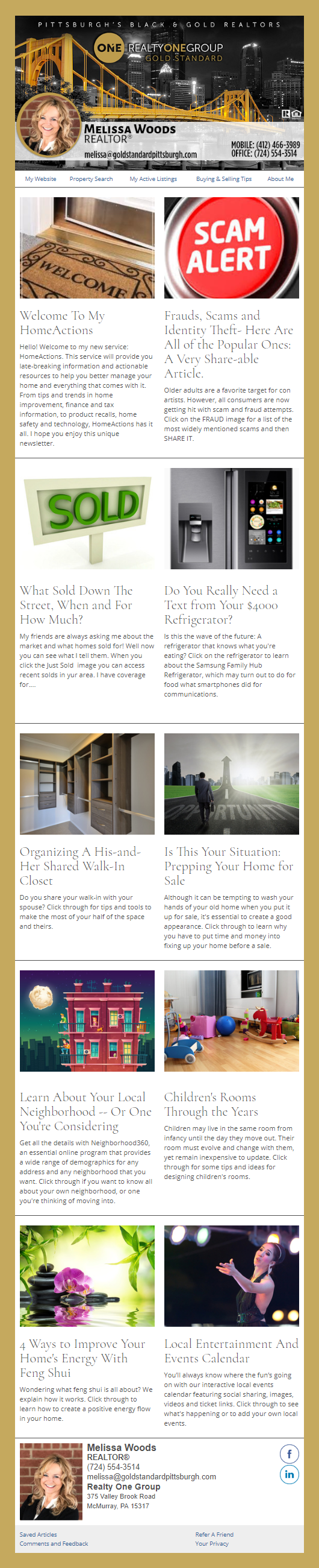 Realty One - HomeActions Sample Email Newsletter