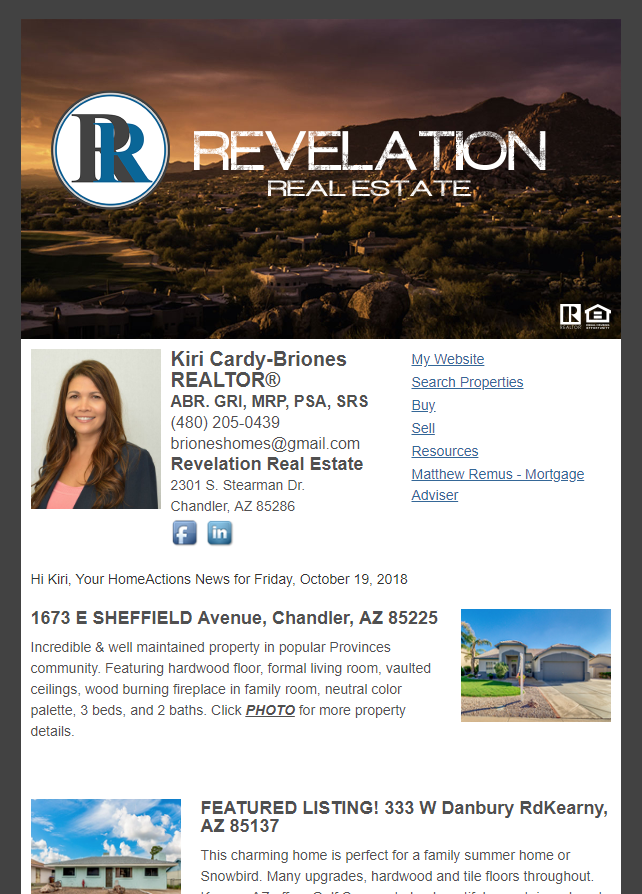 Real Estate Marketing Newsletter Example From An Agent At Revelation Real Estate