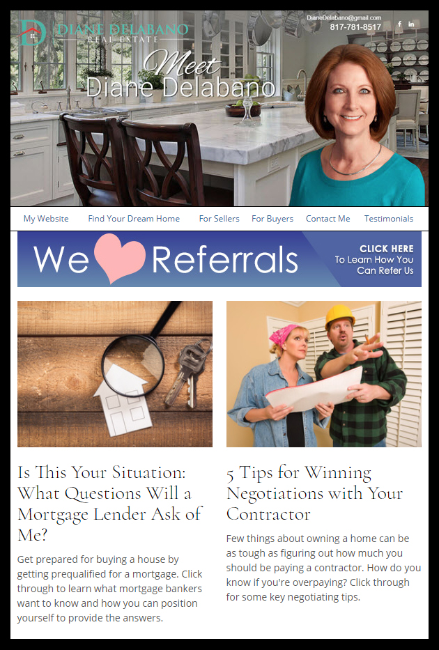Great REALTOR Email Newsletter Example