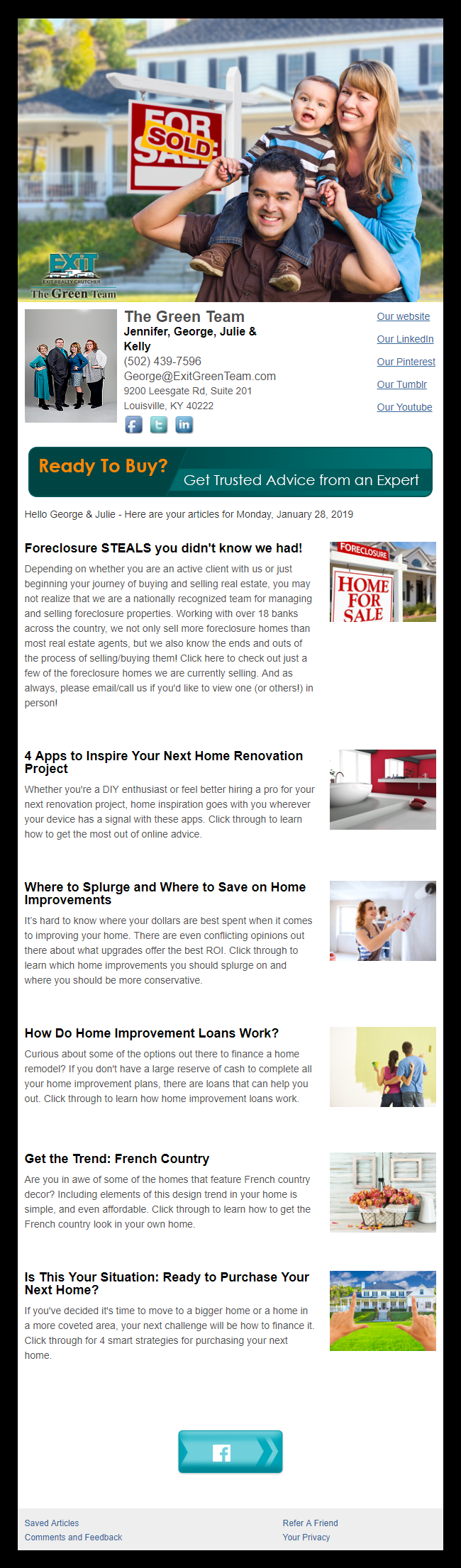 Exit Realty - HomeActions Sample Email Newsletter