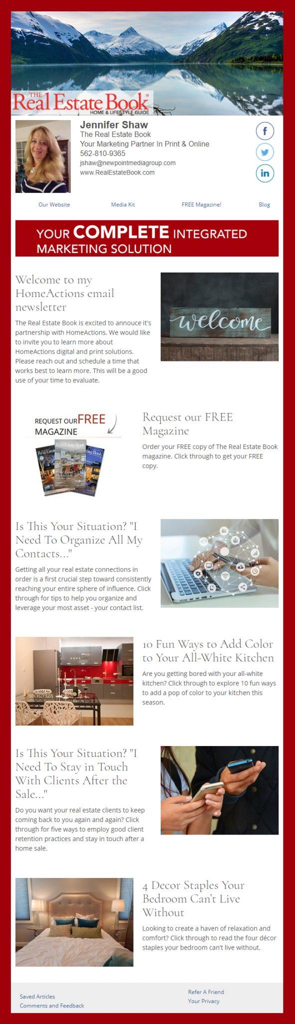 Sample Real Estate Marketing Email Newsletter