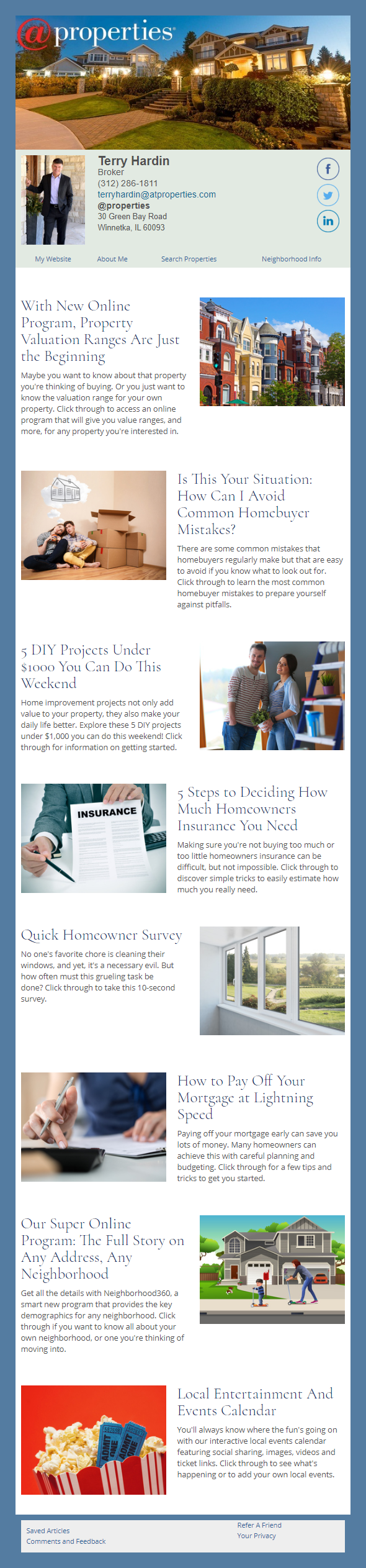 @Properties - HomeActions Sample Email Newsletter
