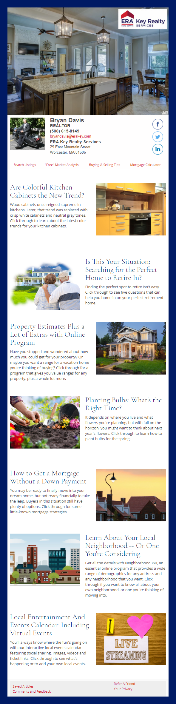 ERA Key Realty Services - HomeActions Sample Email Newsletter