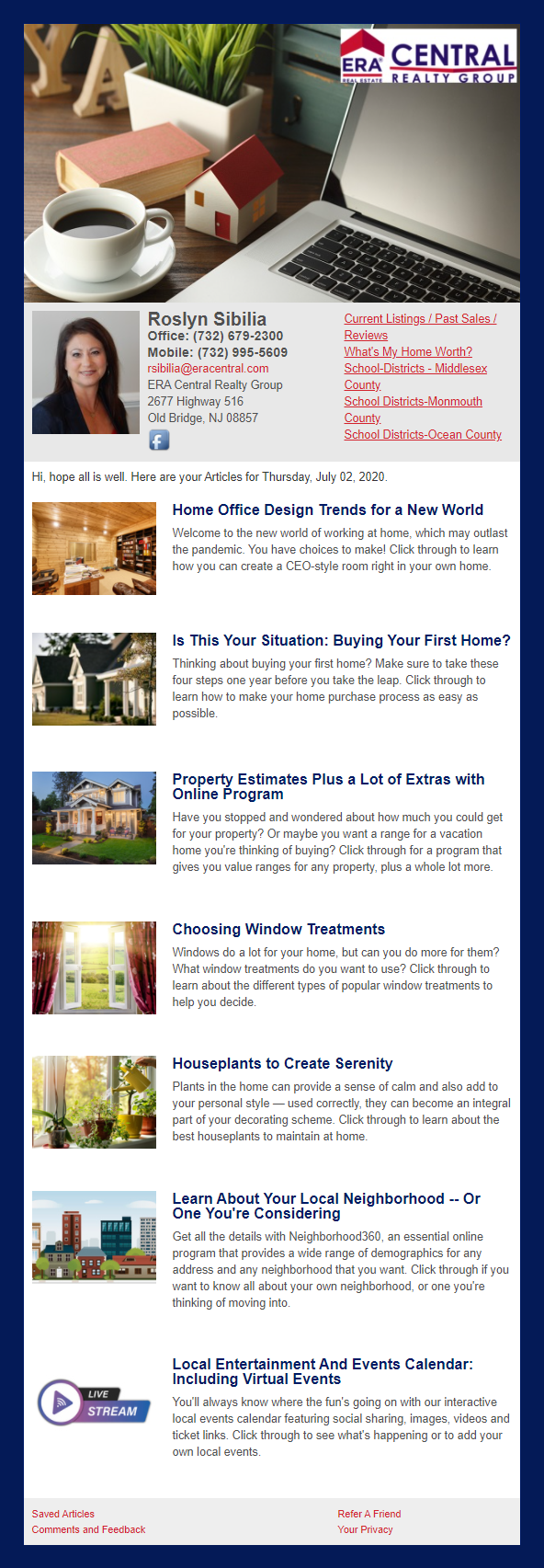 ERA Real Estate - HomeActions Sample Email Newsletter